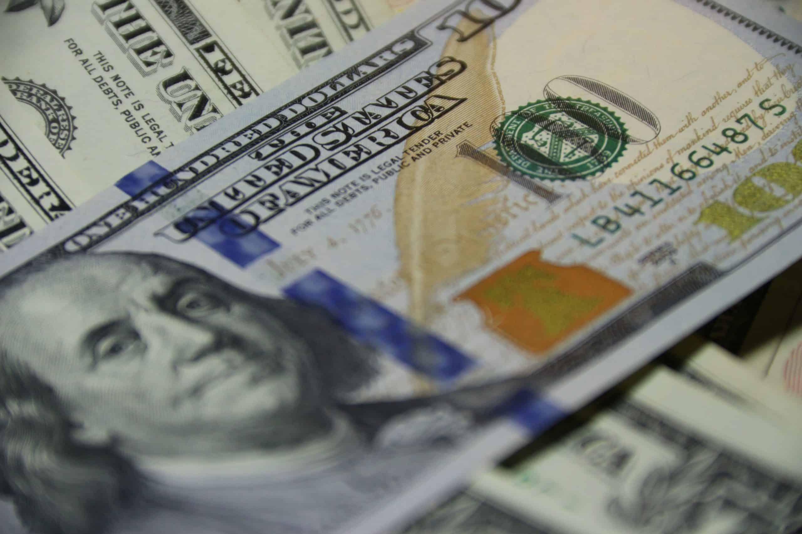 US dollar bill.